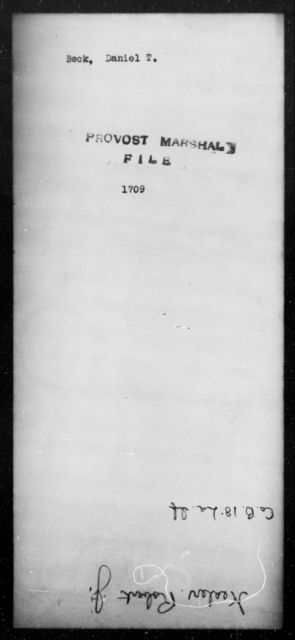 Beck, Daniel T - State: [Blank] - Year: 1862