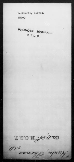 Beckworth, Alfred - State: [Blank] - Year: [Blank]