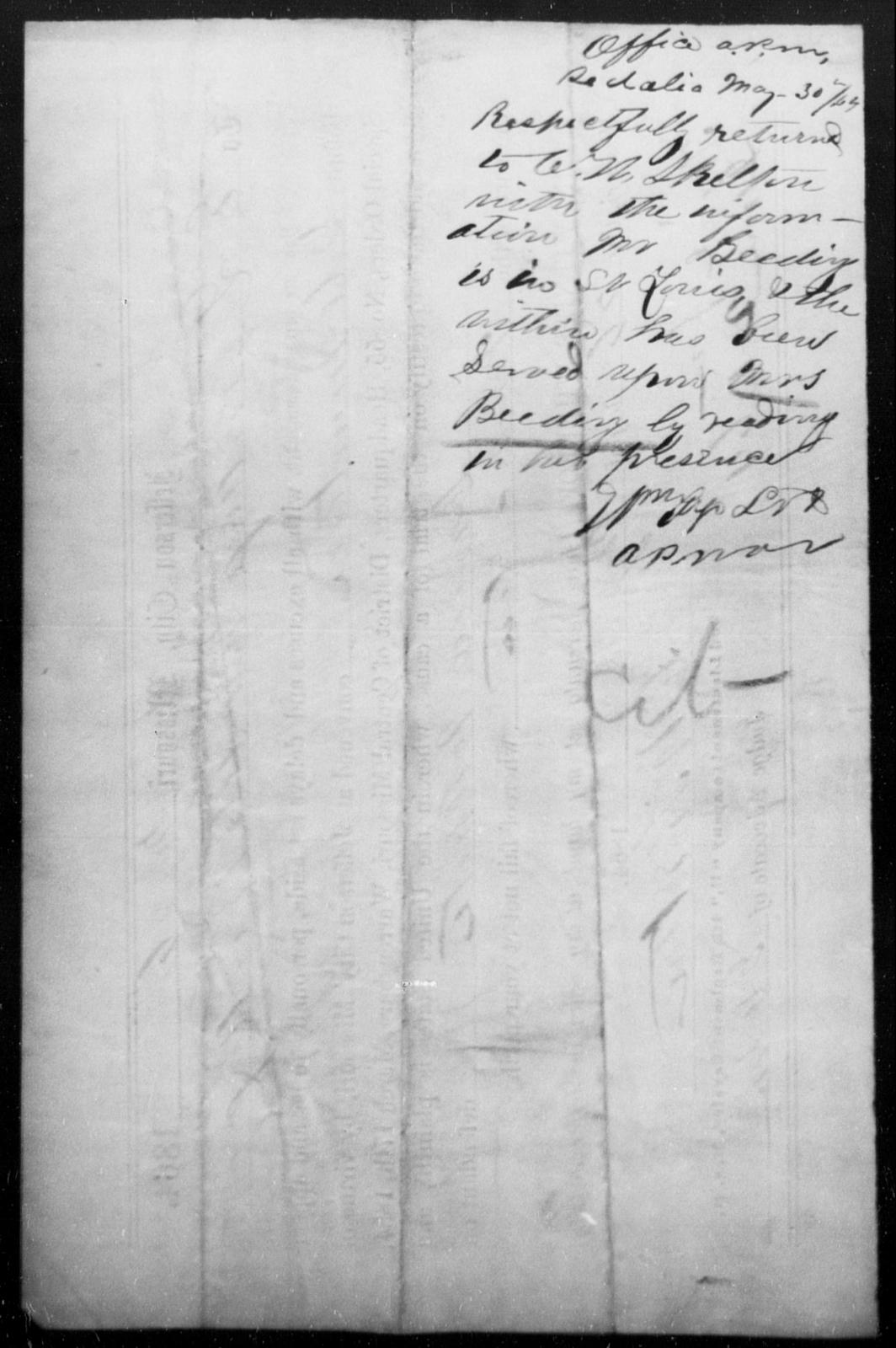 Beeding, [Blank] - State: [Blank] - Year: 1864