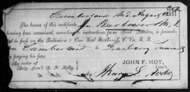 Beerbower, J - State: Maryland - Year: 1861