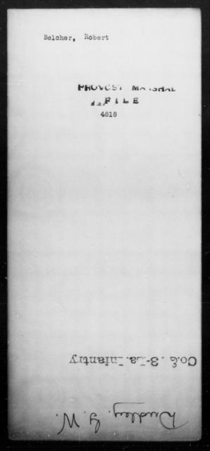 Belcher, Robert - State: [Blank] - Year: [Blank]