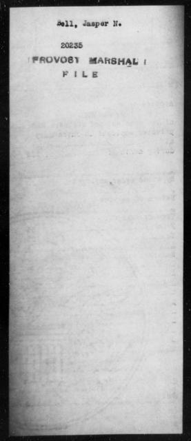 Bell, Jasper N - State: [Blank] - Year: [Blank]