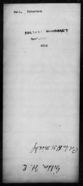 Bell, Robertson - State: [Blank] - Year: [Blank]