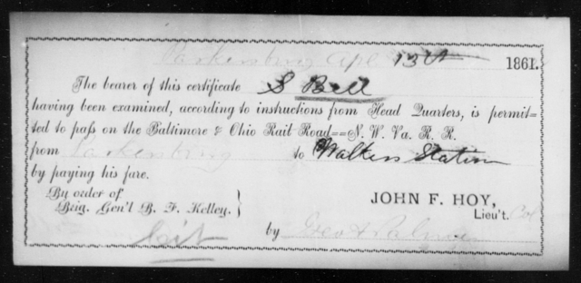 Bell, S - State: Ohio - Year: 1861