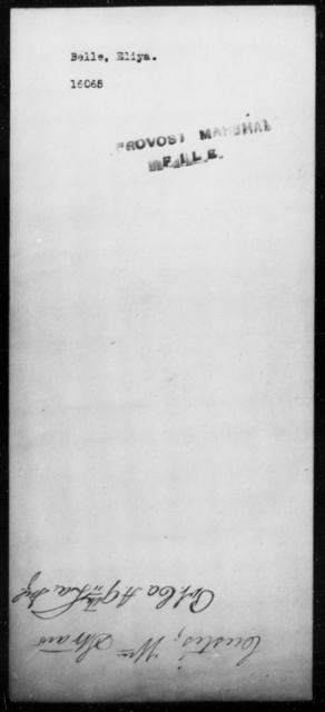 Belle, Eliya - State: [Blank] - Year: [Blank]