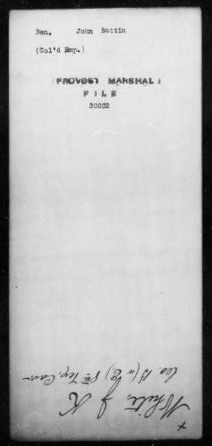 Ben, John Battin - State: [Blank] - Year: [Blank]