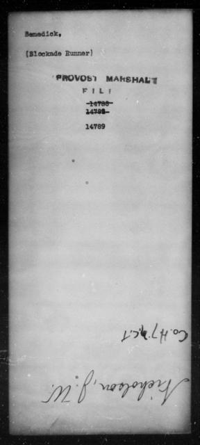 Benedick, [Blank] - State: [Blank] - Year: [Blank]