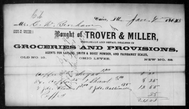 Benham, G W - State: Illinois - Year: 1865