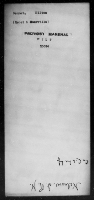 Bennet, Milton - State: [Blank] - Year: [Blank]
