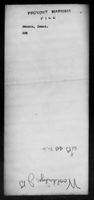 Benson, Isaac - State: [Blank] - Year: [Blank]