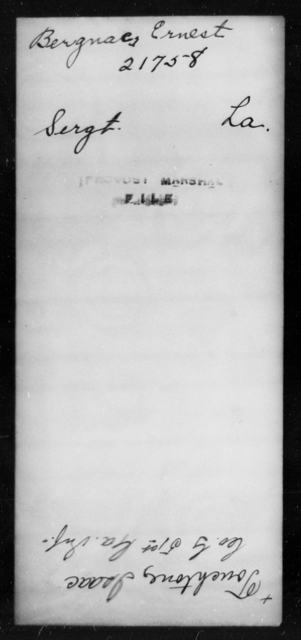 Bergnaes, Ernest - State: Louisiana - Year: [Blank]