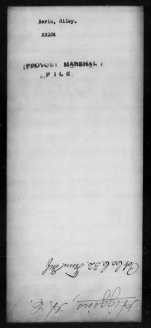 Berin, Riley - State: [Blank] - Year: [Blank]