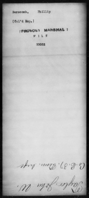 Berscomb, Phillip - State: [Blank] - Year: [Blank]