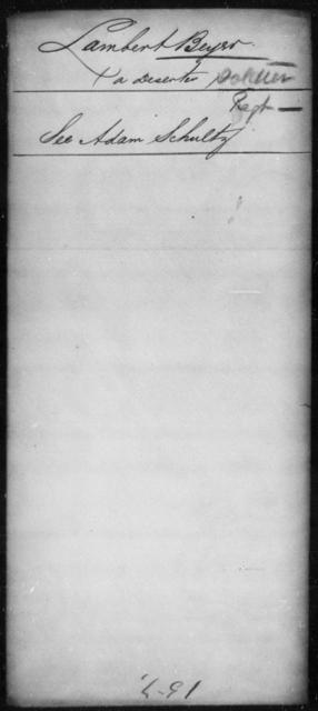 Beyer, Lambert - State: [Blank] - Year: [Blank]