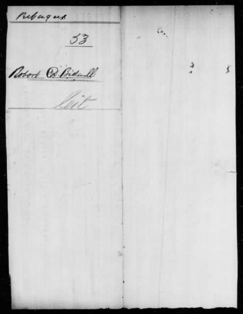 Bidwell, Robert D - State: Ohio - Year: 1861