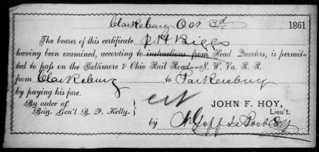 Biggs, R H - State: Ohio - Year: 1861