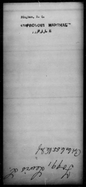 Bingham, R Q - State: [Blank] - Year: [Blank]