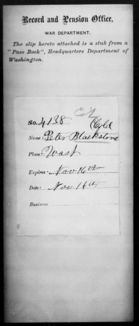Blackstone, Peter - State: Washington - Year: [Blank]