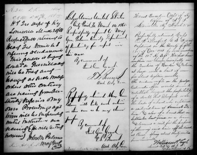 Blackstone, R A - State: Kentucky - Year: 1865