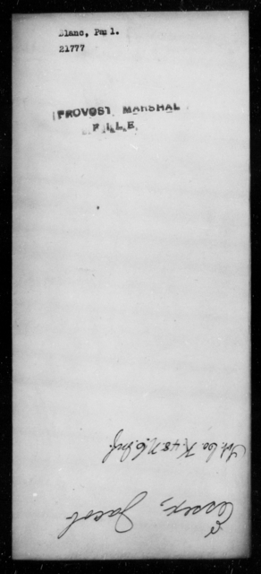 Blanc, Paul - State: [Blank] - Year: [Blank]