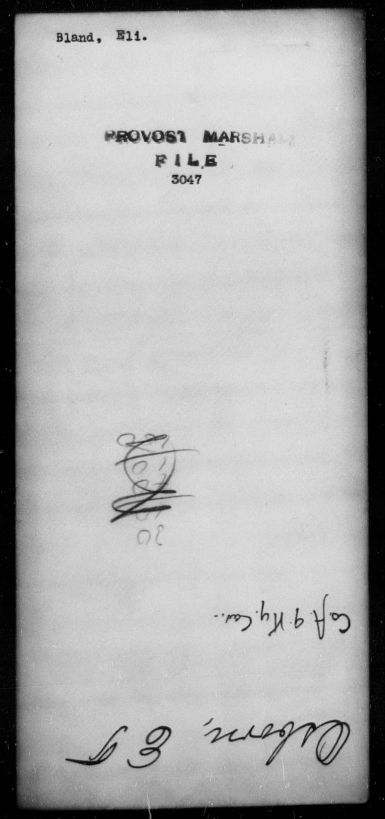 Bland, Eli - State: [Blank] - Year: 1863