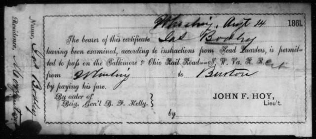 Bodley, Jas - State: Ohio - Year: 1861