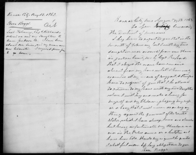 Boggs, Peace - State: Missouri - Year: 1863