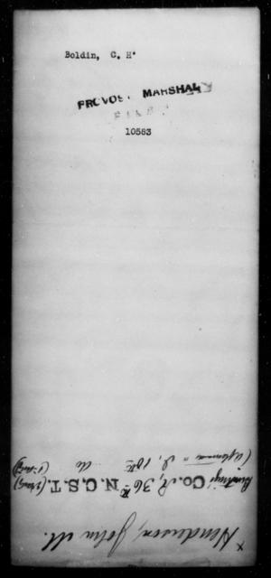 Boldin, C H - State: [Blank] - Year: [Blank]