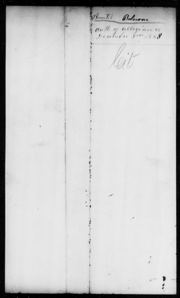 Bolerson, Brantie - State: [Blank] - Year: 1863