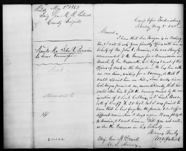 Bonvier, John V - State: [Blank] - Year: 1862