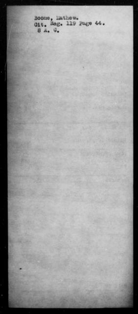 Boome, Mathew - State: [Blank] - Year: [Blank]