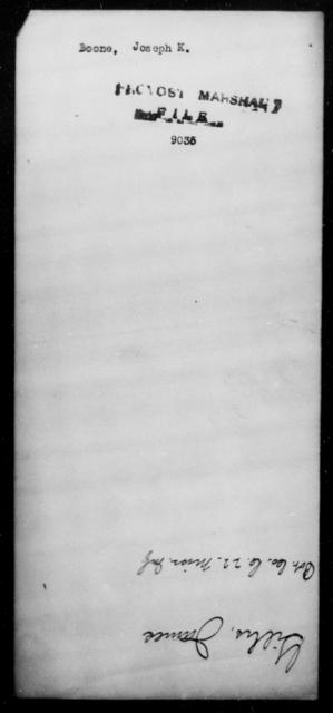 Boone, Joseph K - State: [Blank] - Year: [Blank]