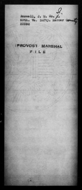 Boswell, J W - State: Virginia - Year: [Blank]