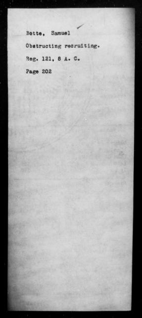 Botte, Samuel - State: [Blank] - Year: [Blank]