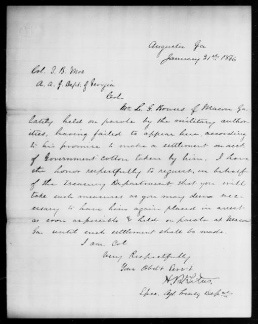 Bowen, L G - State: Georgia - Year: 1866