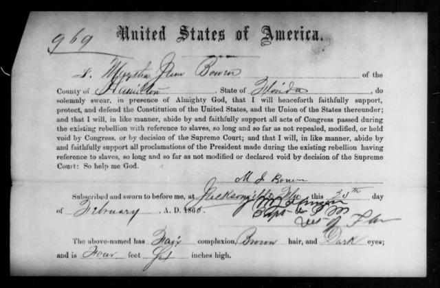 Bowen, Martha James - State: [Blank] - Year: 1865
