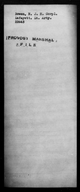 Bowen, N J H - State: [Blank] - Year: [Blank]