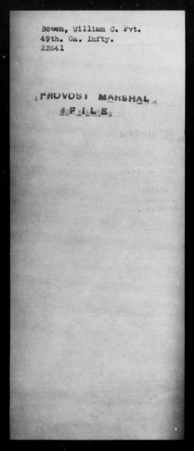 Bowen, William C - State: [Blank] - Year: [Blank]