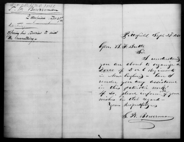 Bowerman, S W - State: North Carolina - Year: 1861