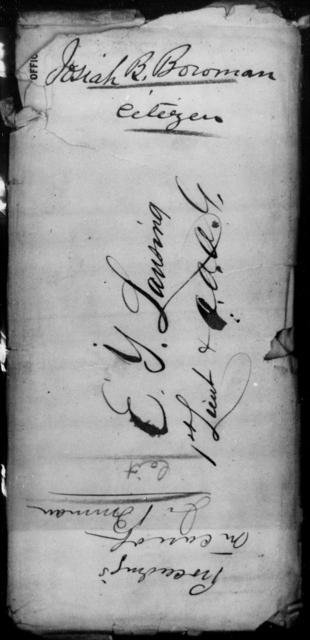 Bowman, Josiah B - State: Washington - Year: 1864