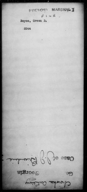 Boyce, Green B - State: [Blank] - Year: [Blank]