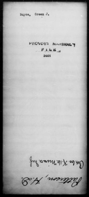 Boyce, Green J - State: [Blank] - Year: [Blank]