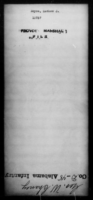 Boyce, Mathew J - State: [Blank] - Year: [Blank]