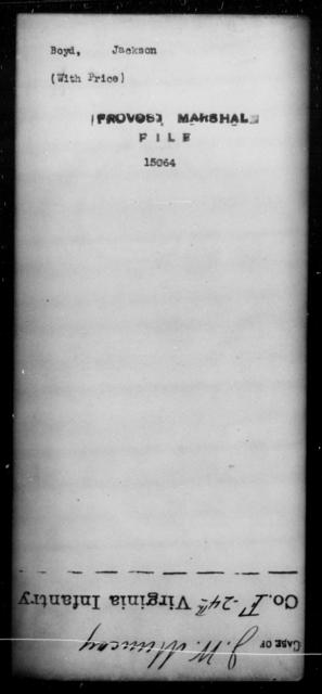 Boyd, Jackson - State: [Blank] - Year: [Blank]