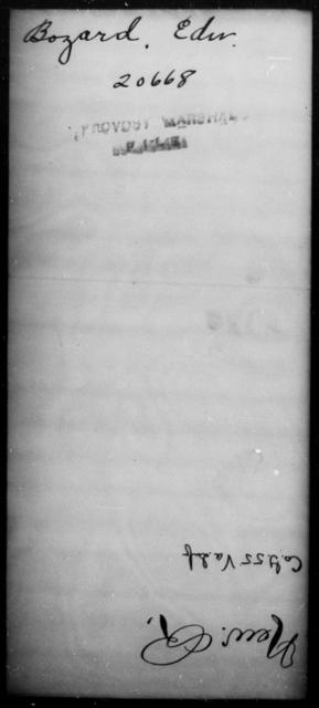 Bozard, Edw - State: [Blank] - Year: [Blank]