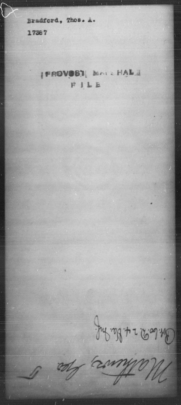Bradford, Thos A - State: [Blank] - Year: [Blank]