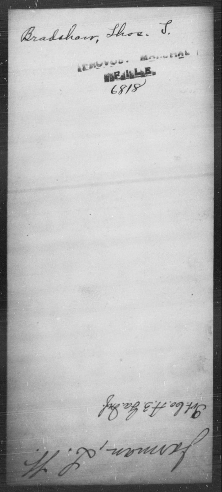 Bradshaw, Thos S - State: [Blank] - Year: [Blank]