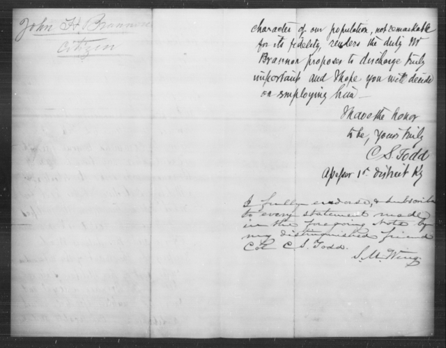Brannon, John H - State: Kentucky - Year: [Blank]