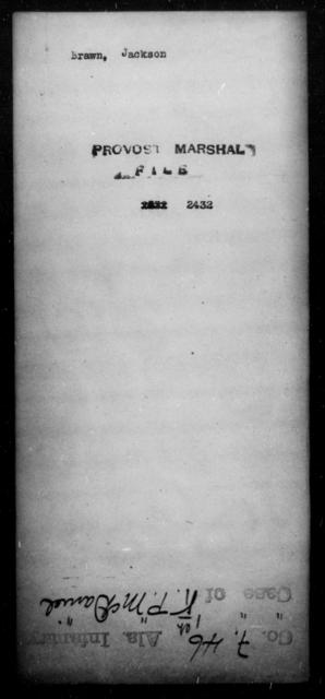 Brawn, Jackson - State: [Blank] - Year: [Blank]
