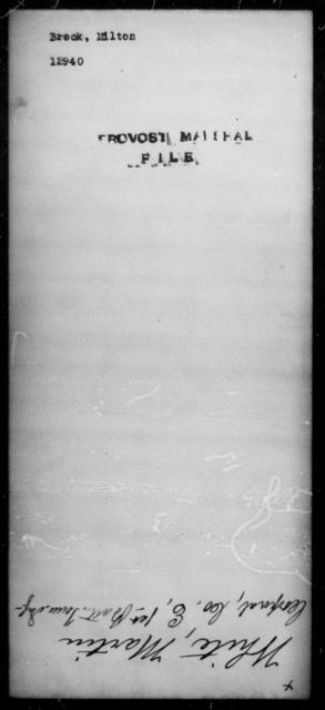 Breck, Milton - State: [Blank] - Year: [Blank]